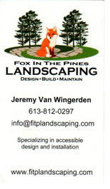 Fox in the Pines Landscaping